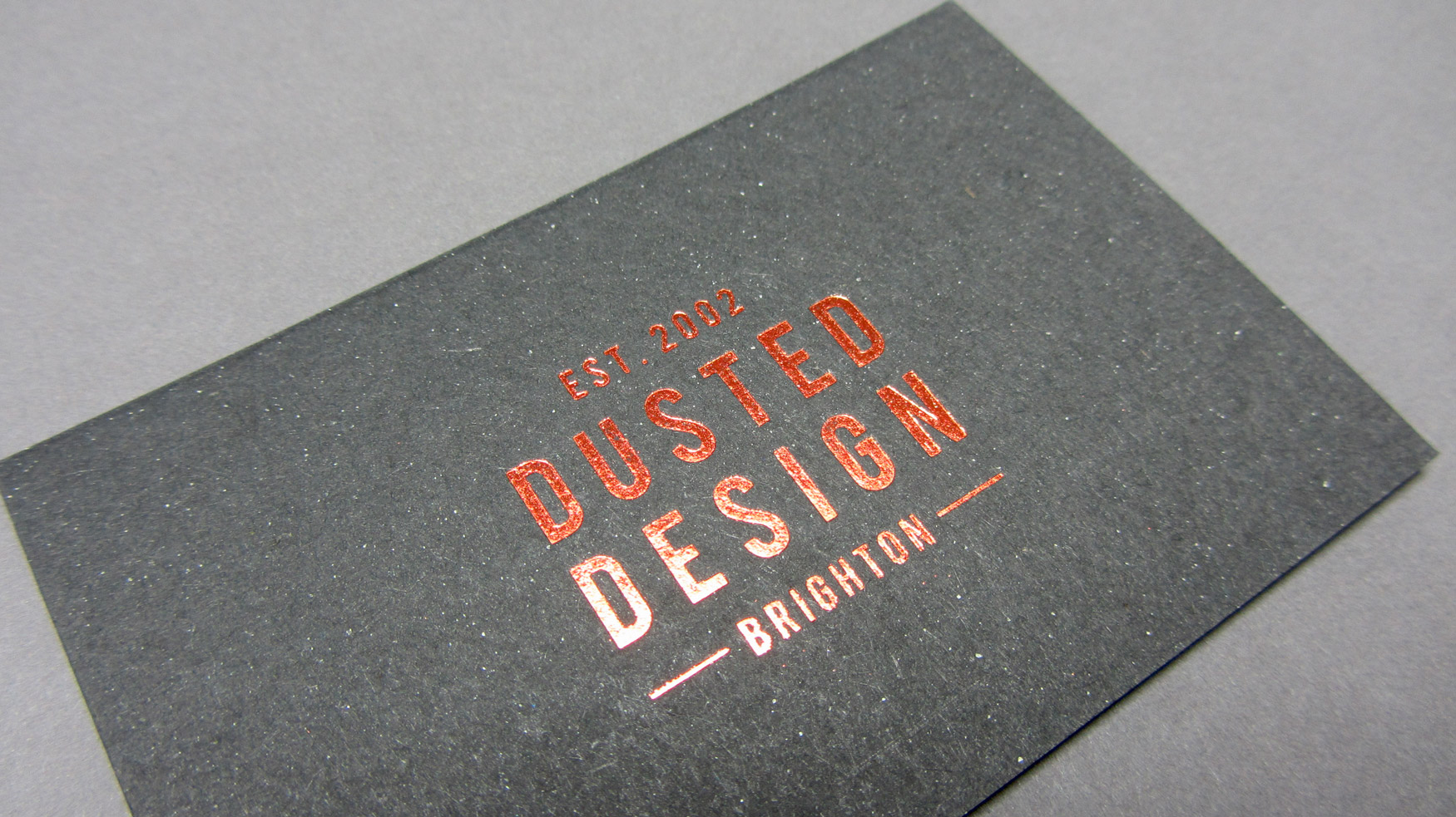 Dusted Design Business Card - Freestyle Print London Printers UK