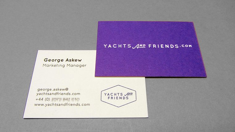 Yachts and friends business card freestyle print london printers uk zoom reheart Gallery