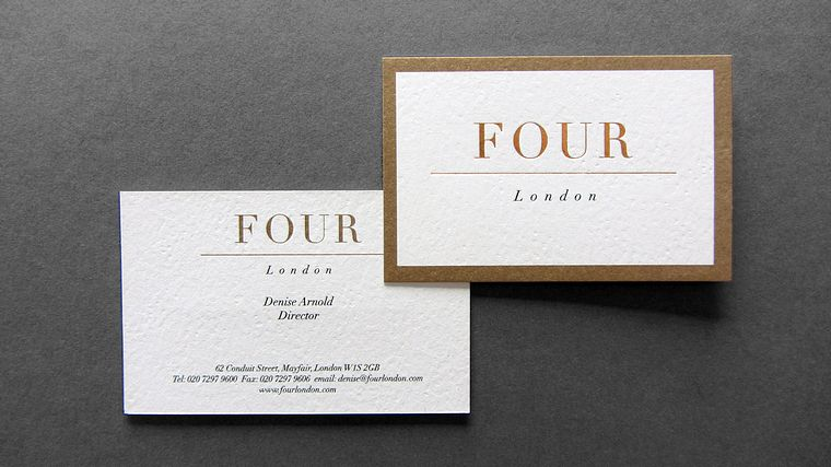 Four london business card freestyle print london printers uk four london business card reheart Choice Image