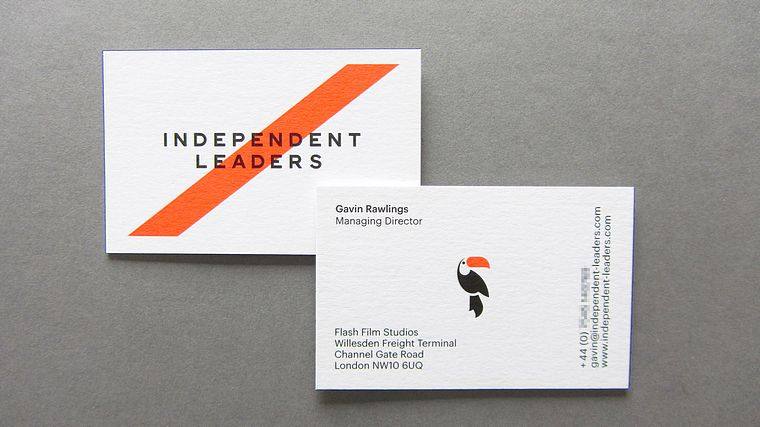 Independent leaders business card freestyle print london printers uk reheart Images