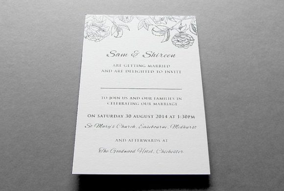 Sam & Shireen Wedding Invite
